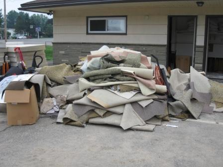 Flood Damage At The Blue Ridge Motel New Milford Pa University