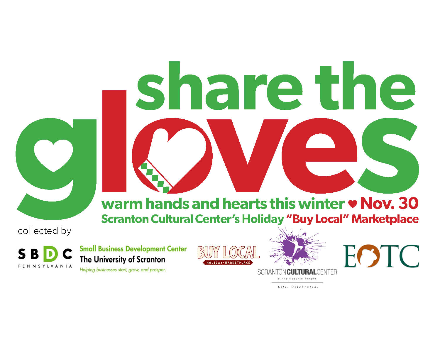 The University of Scranton SBDC Spearheading Glove Drive
