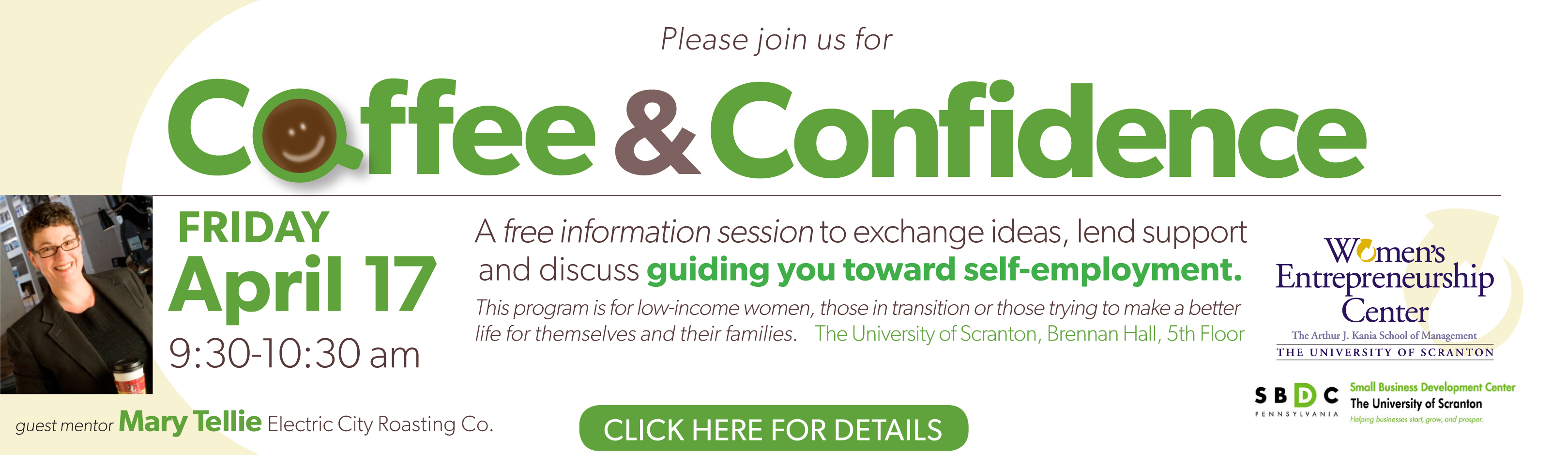 Coffee & Confidence – A Women's Program from The University of Scranton