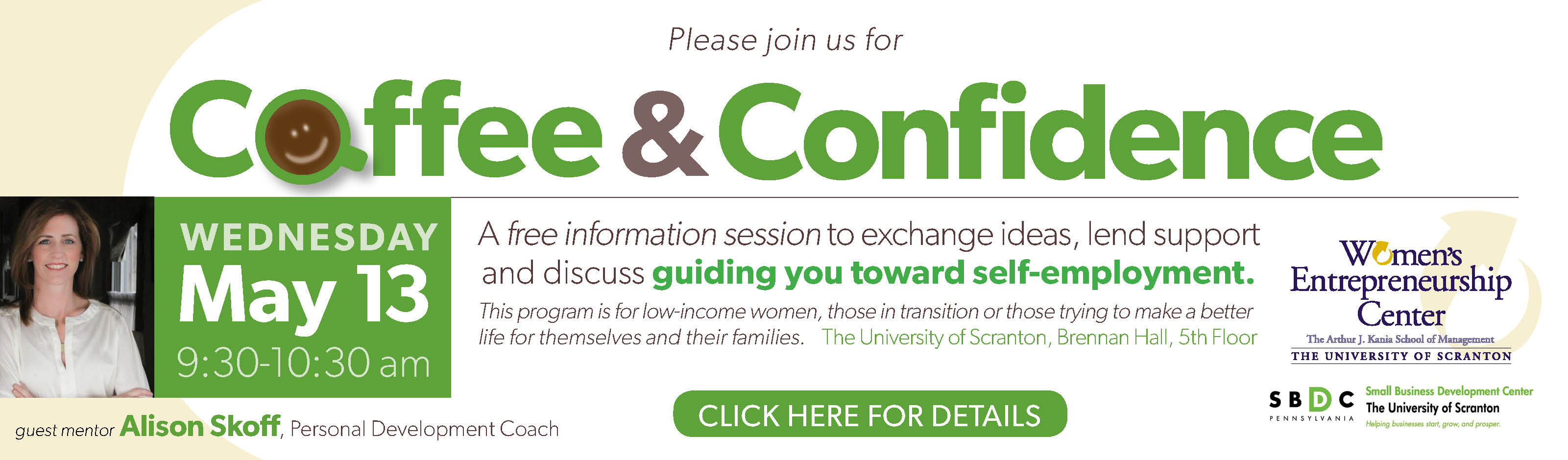 Read more about the article Coffee & Confidence – A Women's Program from The University of Scranton