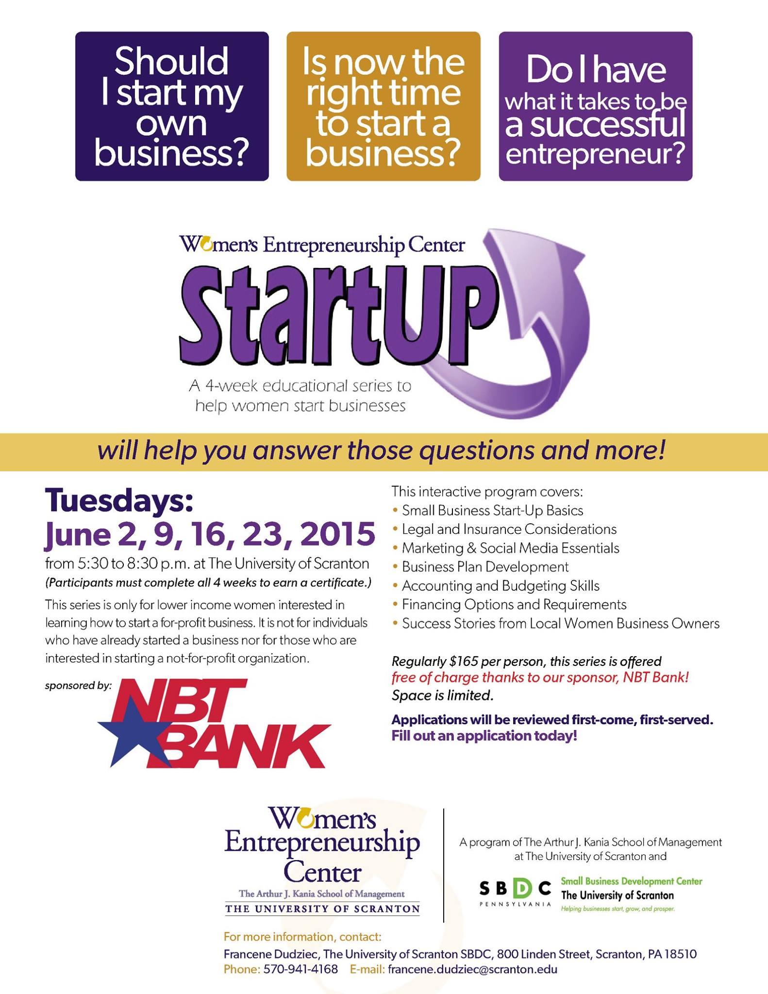 startup - University of Scranton Small Business Development