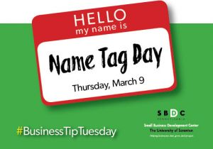 #BusinessTipTuesday – Name Tag Day