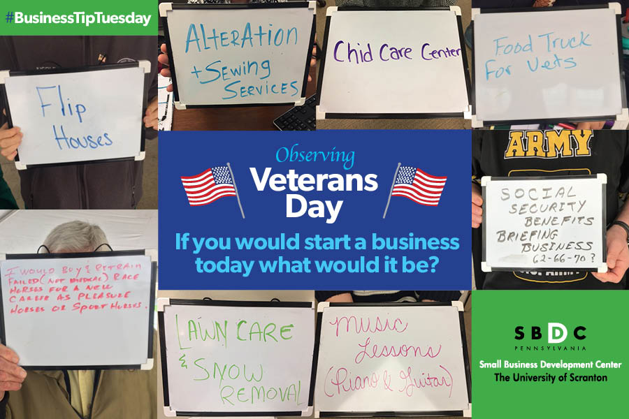 #BusinessTipTuesday -Observing #VeteransDay