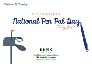 #BusinessTipTuesday – National Pen Pal Day