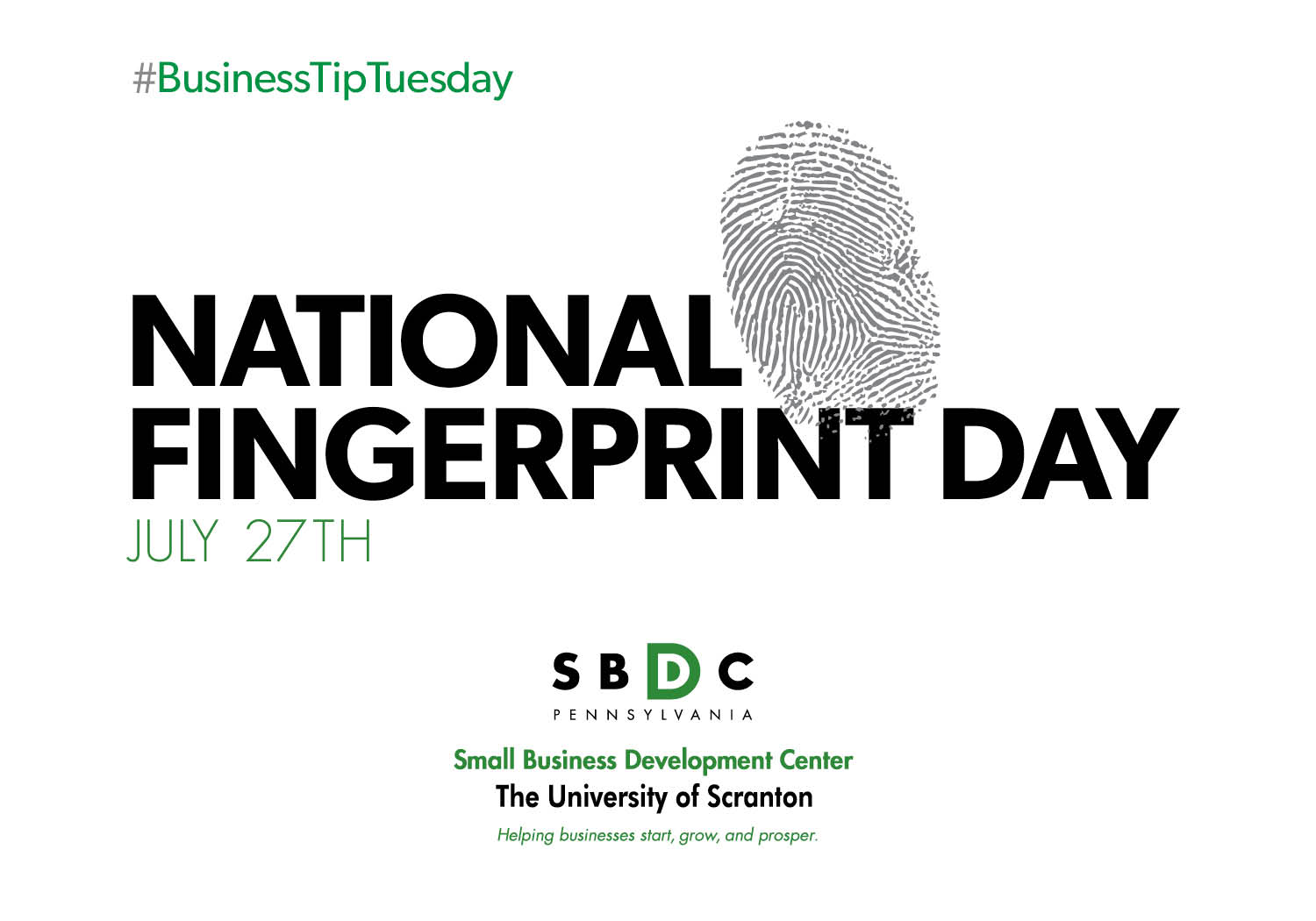 #BusinessTipTuesday – National Fingerprint Day