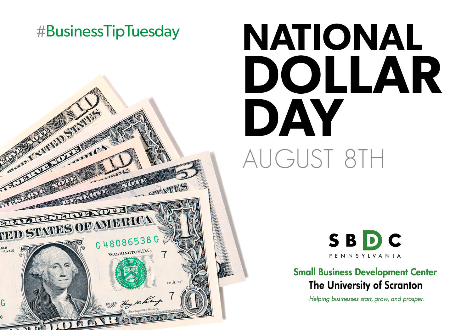 #BusinessTipTuesday – National Dollar Day