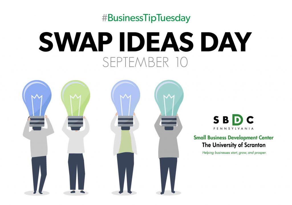 #BusinessTipTuesday – Swap Ideas Day
