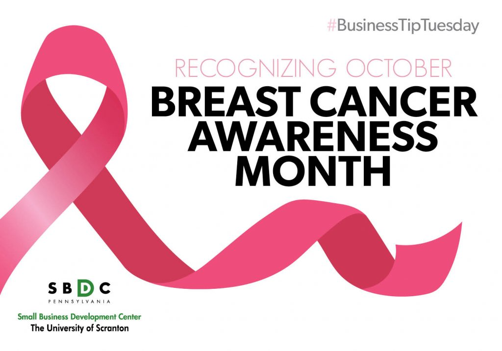 #BusinessTipTuesday – Breast Cancer Awareness Month