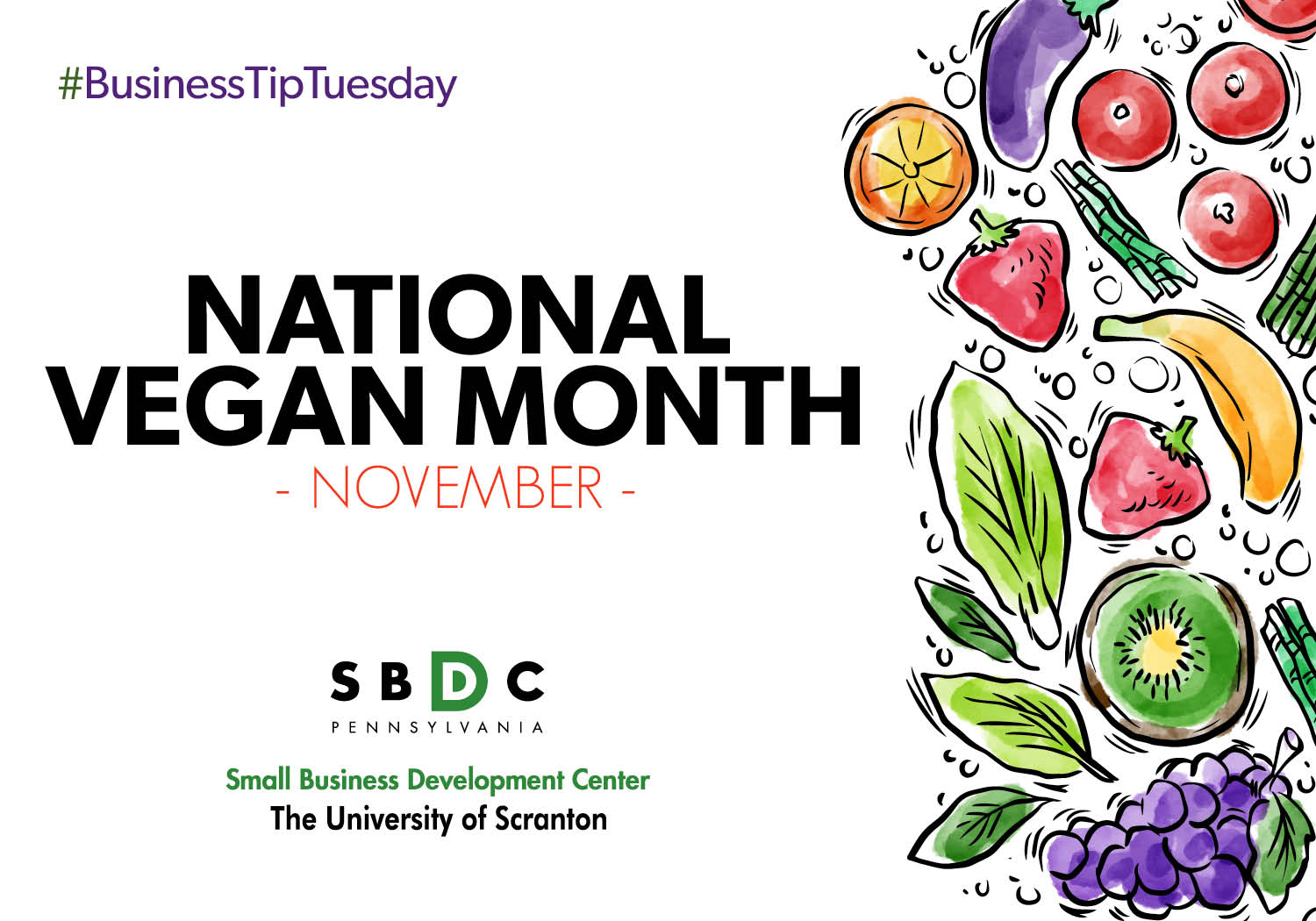 #BusinessTipTuesday – National Vegan Month