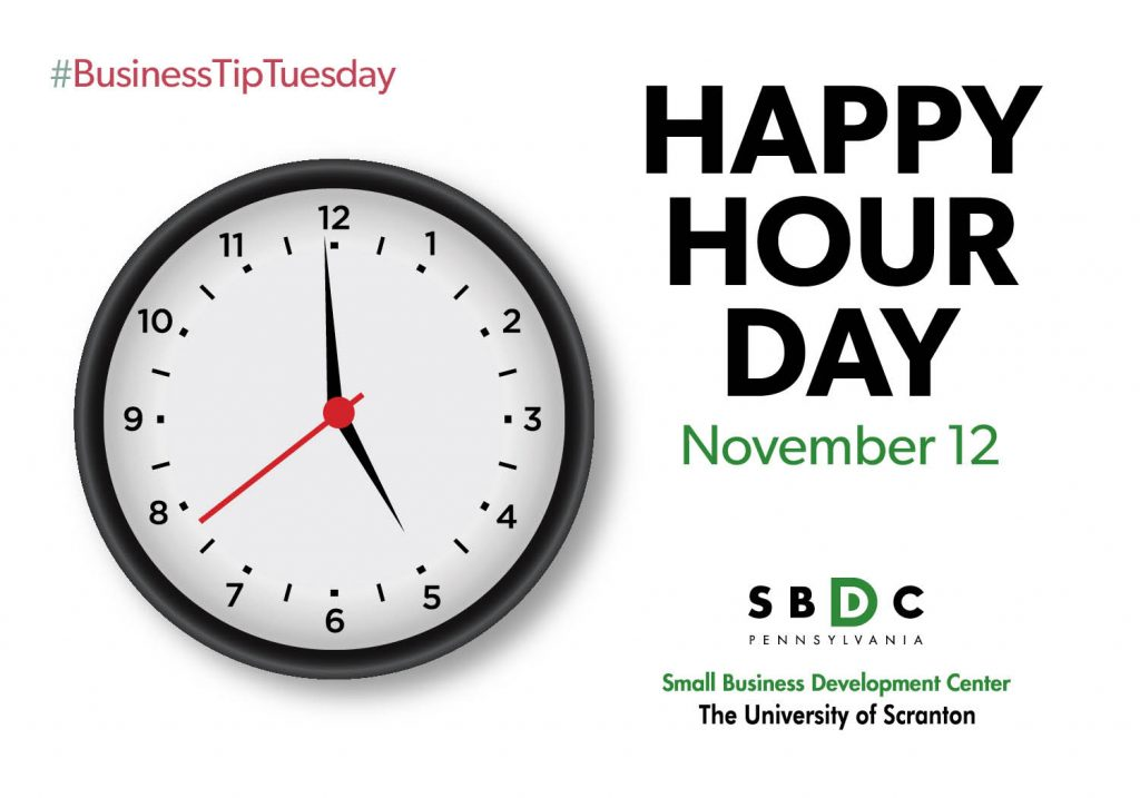 #BusinessTipTuesday – National Happy Hour Day