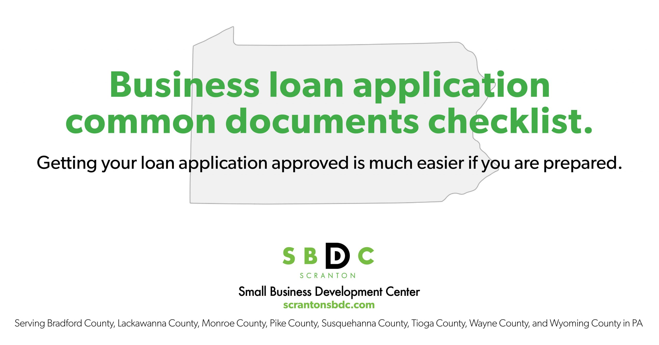 Business Loan Application Common Document Checklist