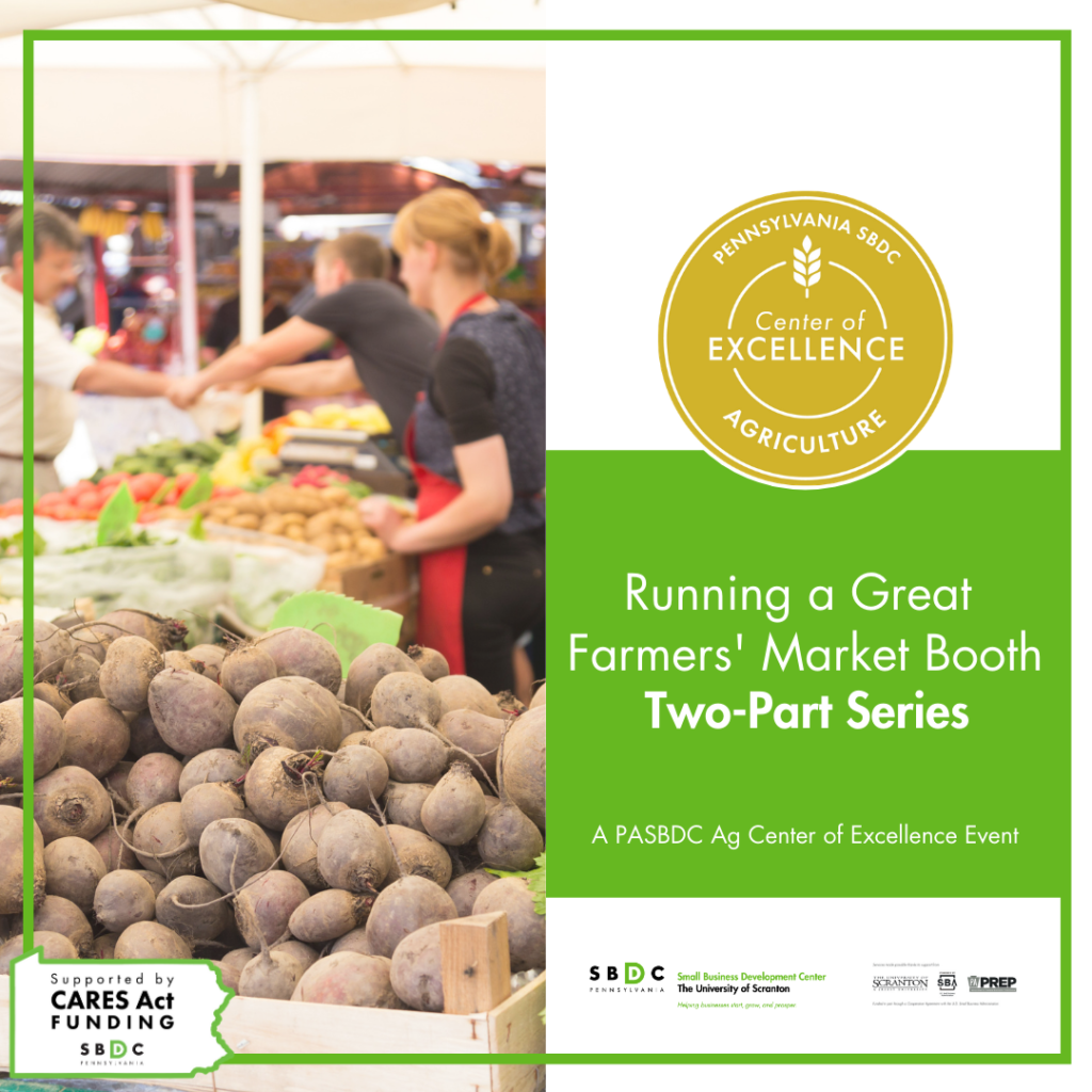 """Running a Great Farmers' Market Booth"" Offers Training as Farmers' Market Season Approaches"